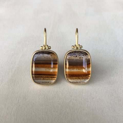 Monika Krol Striped Montana Agate Earrings