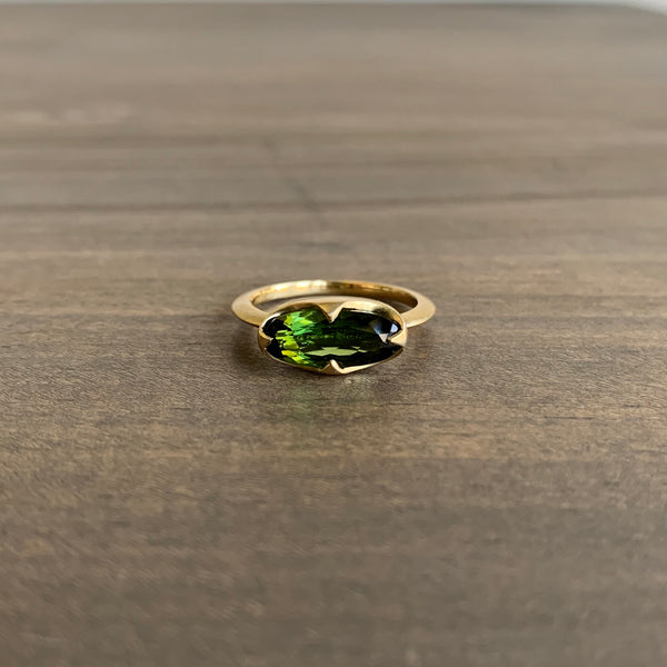 Mimi Favre Green Tourmaline Elongated Claw Ring