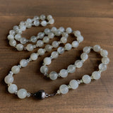 Mimi Favre Long Moonstone and Aquamarine Beaded Necklace