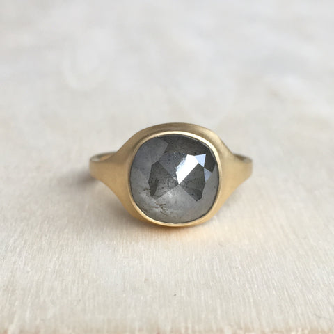 Monika Krol Gray Diamond Cast Ring