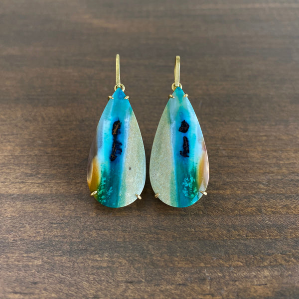 Mimi Favre Petrified Opalized Wood Earrings