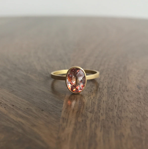 Monika Krol Strawberry Quartz Ring