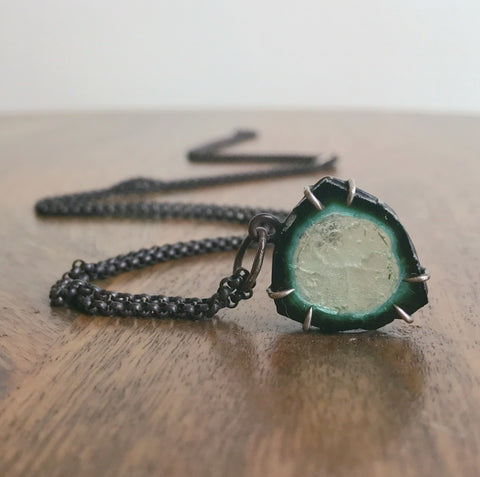 Hannah Blount 12ct Teal Indicolite Vanity Necklace