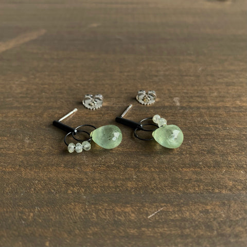 Heather Guidero Prehnite Mini Tangle Earrings
