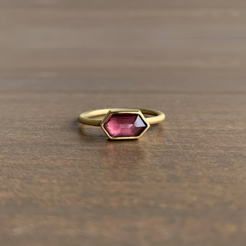 Heather Guidero Bezel Set Spinel Hexagon Ring