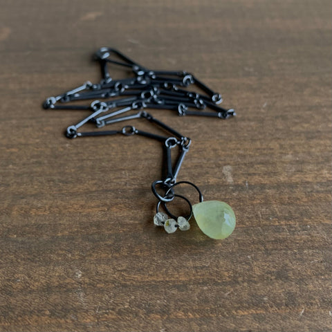 Heather Guidero Prehnite Mini Tangle Necklace