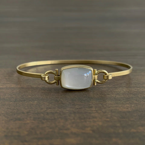 Monika Krol Rounded Rectangle Moonstone Bracelet