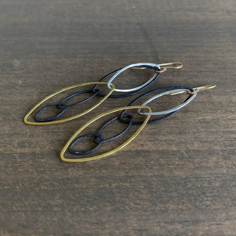 Rosanne Pugliese Gold and Silver Forest Earrings
