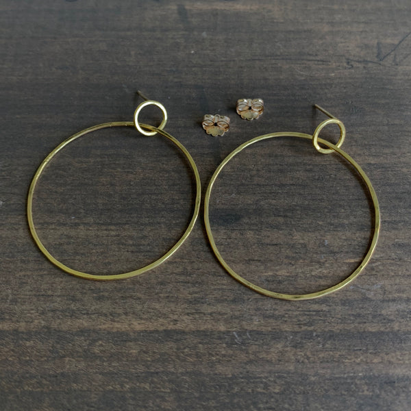Rosanne Pugliese Gold Large Double Circle Hoops