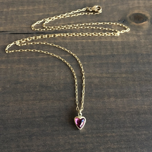Lola Brooks Large Burmese Ruby Sweetheart Necklace