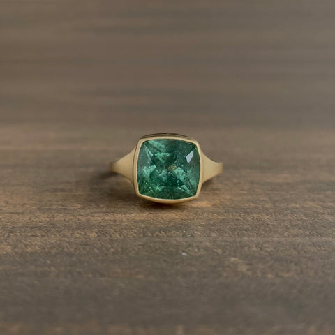 Monika Krol Green Tourmaline Cathedral Ring