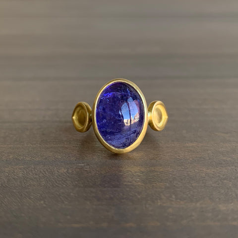Monica Marcella Tanzanite Ring with Lagrimas