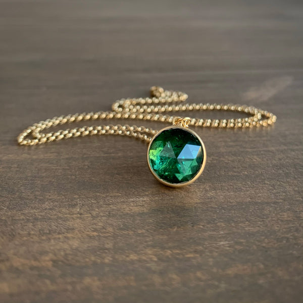 Lola Brooks Green Tourmaline Roly-Poly Pendant