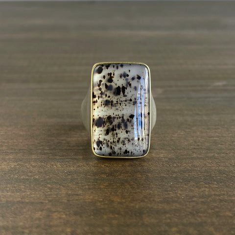 Monika Krol Grand Spotted Montana Agate Ring