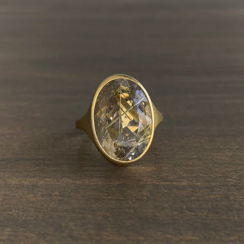 Monika Krol Rutilated Quartz Cathedral Ring