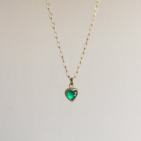 Deeper Colombian Emerald Sweetheart Necklace