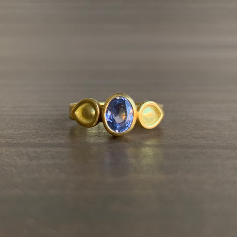 Monica Marcella Sapphire Ring with Lagrimas