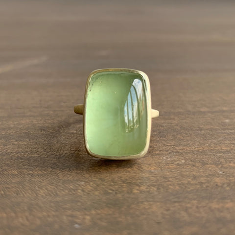 Judi Powers Corazon Green Beryl Rectangle Ring