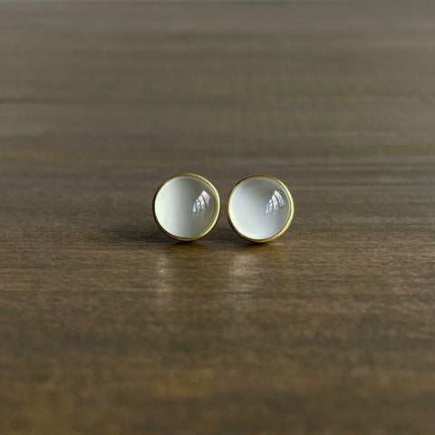 Monika Krol Cat's Eye Moonstone Studs