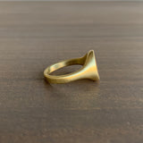 Monica Marcella Gold Obispo Signet Ring