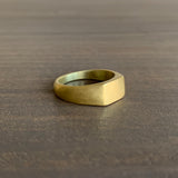 Monica Marcella Gold Mesa Signet Ring
