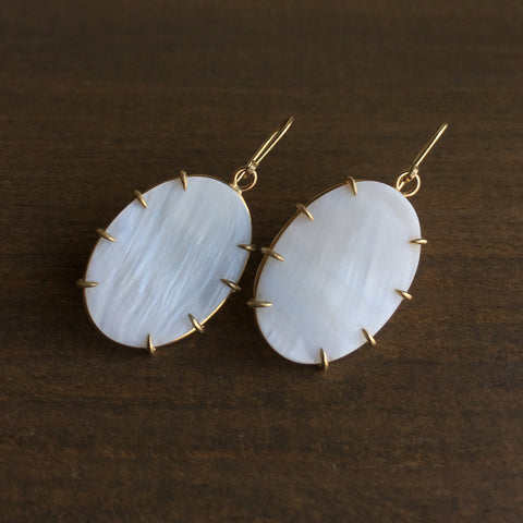 Hannah Blount Haze Mother of Pearl Vanity Earrings