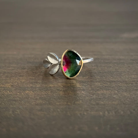 Katie Carder Tourmaline Fern Ring