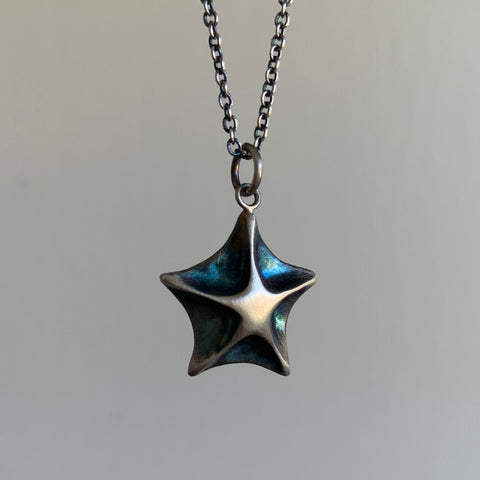 Judi Powers Silver Starfish Necklace