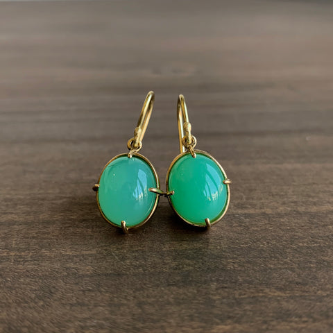 Mimi Favre Chrysoprase Drop Earrings