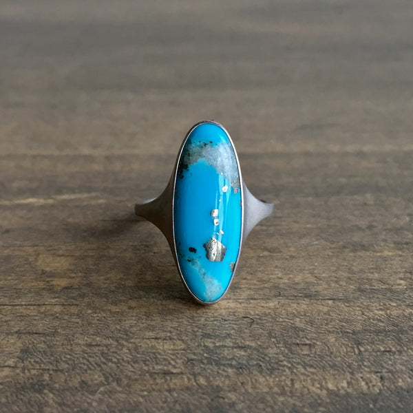 Monika Krol Campitos Turquoise with Pyrite and Quartz Ring