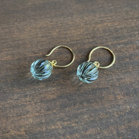 Mimi Favre Lotus Fluted Prasiolite Earrings