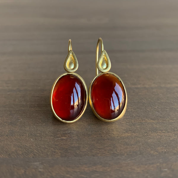 Monica Marcella Garnet Earrings with Flames