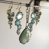 Hannah Blount Sea Green Aquamarine Vanity Necklace