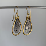 Monika Krol Montana Agate Lyre Earrings