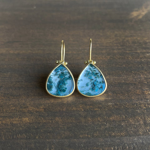 Monika Krol Moss Agate Drop Earrings