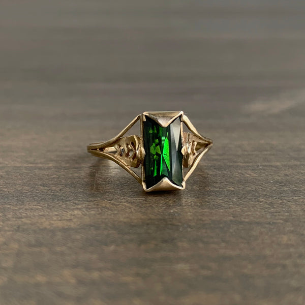 Aliyah Gold Tourmaline Chevron Ring