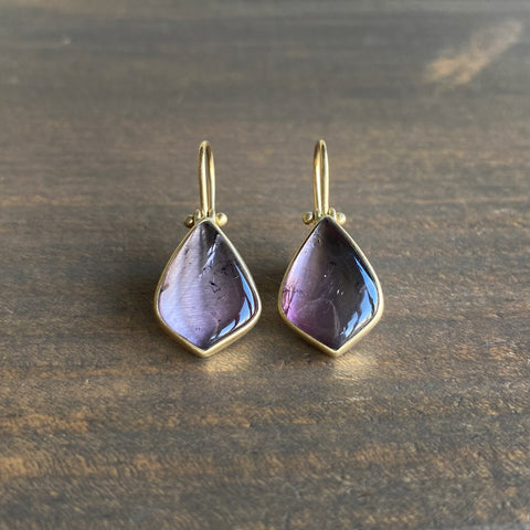 Monika Krol Lavender Tourmaline Petal Drop Earrings