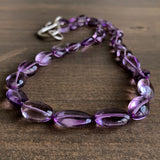 Judi Powers Amethyst Pebble Necklace