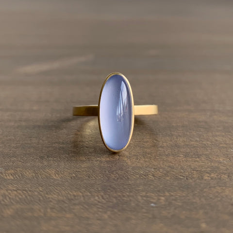 Monika Krol Blue Chalcedony Staking Ring