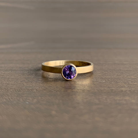 Monika Krol Purple Sapphire Stacking Ring
