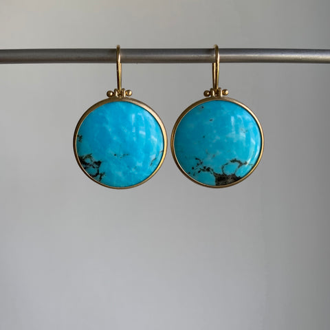 Monika Krol Round Kingsman Spiderweb Turquoise Earrings