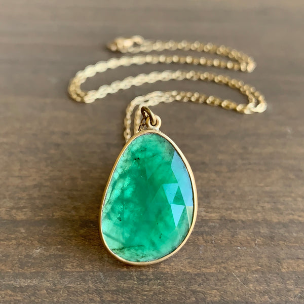 Lola Brooks Emerald Pendant