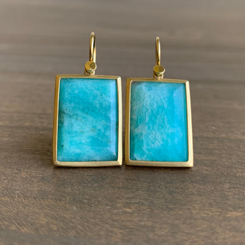 Lola Brooks Amazonite Rectangle Earrings