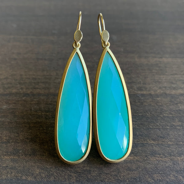 Lola Brooks Faceted Chrysoprase Drop Earrings