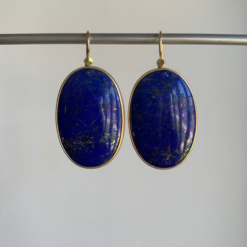 Lola Brooks Celestial Lapis Oval Earrings