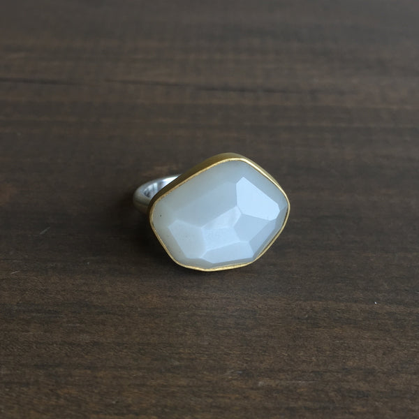 Heather Guidero Bezel Set White Moonstone Ring