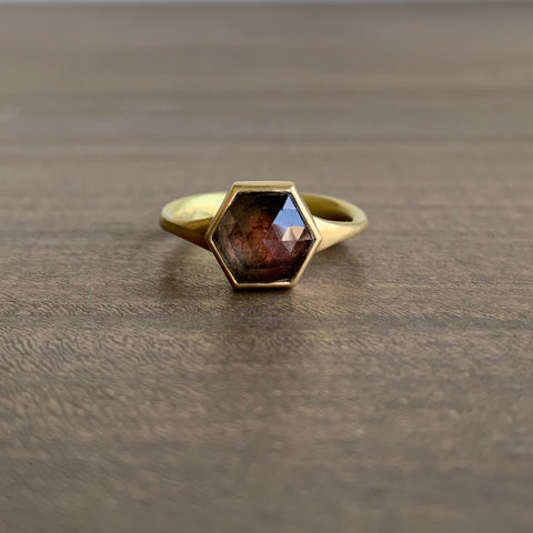 Lola Brooks Natural Burgundy Hexy Sapphire Ring