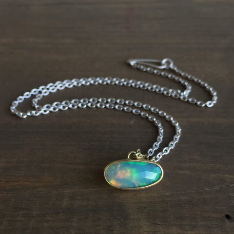 Heather Guidero Bezel Set Opal Pendant