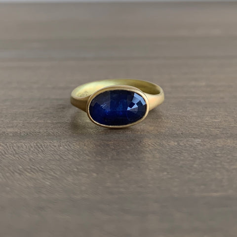 Lola Brooks Natural Blue Oval Sapphire Ring