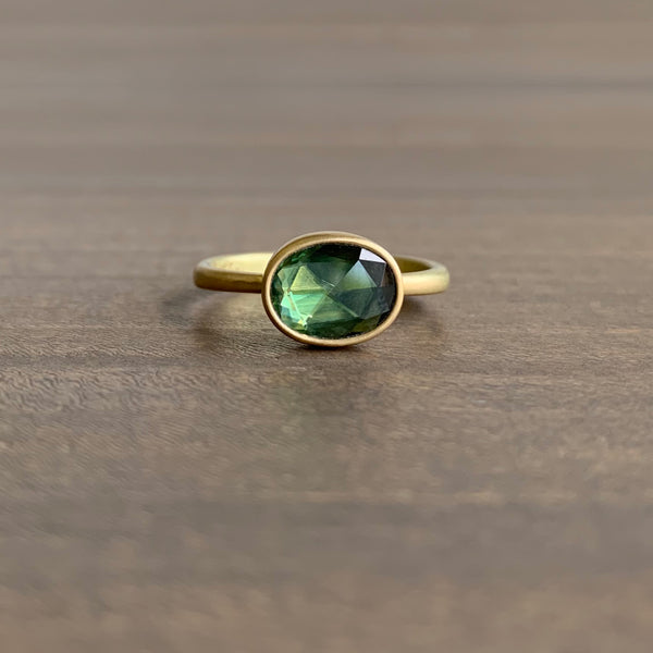 Lola Brooks Oval Green Sapphire Ring
